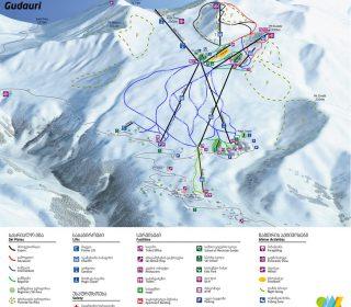 Gudauri Winter Map - განახლებული